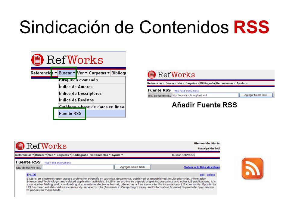 Añadir Fuente RSS