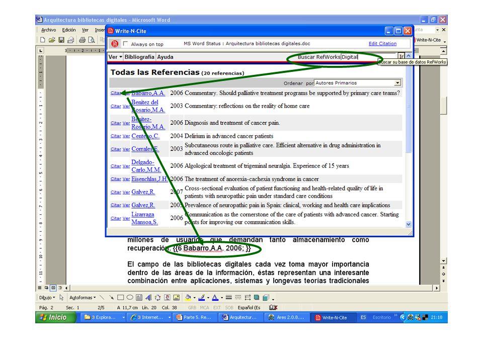Citar con RefWorks, 3
