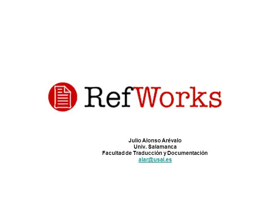 Julio Alonso Arévalo Univ. Salamanca Facultad de Traducción y Documentación alar@usal.es