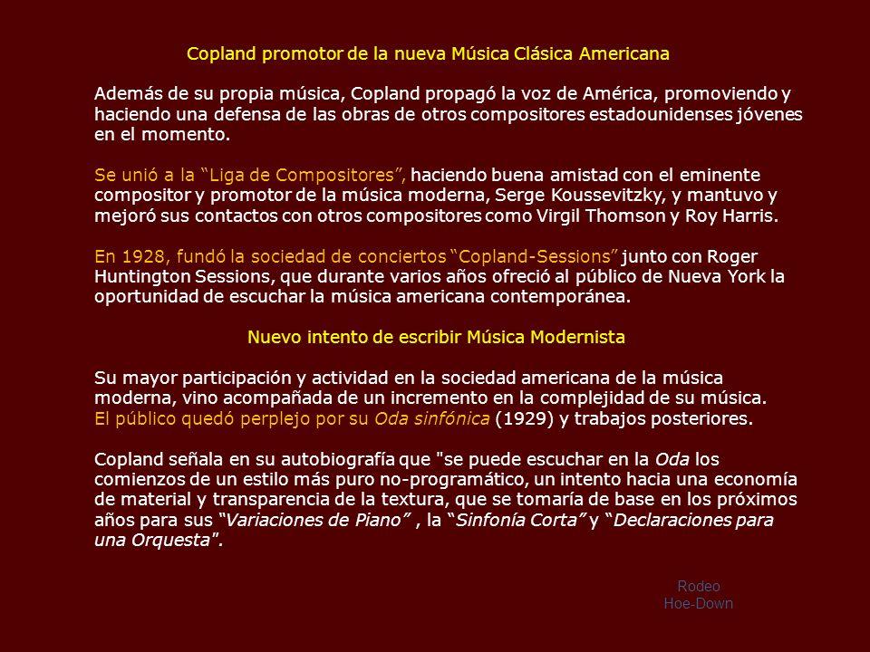 Su regreso a los Estados Unidos en 1924 La obra que le pidió Nadia Boulanger fue terminada y se llamó: Sinfonía para órgano y orquesta, en su estreno