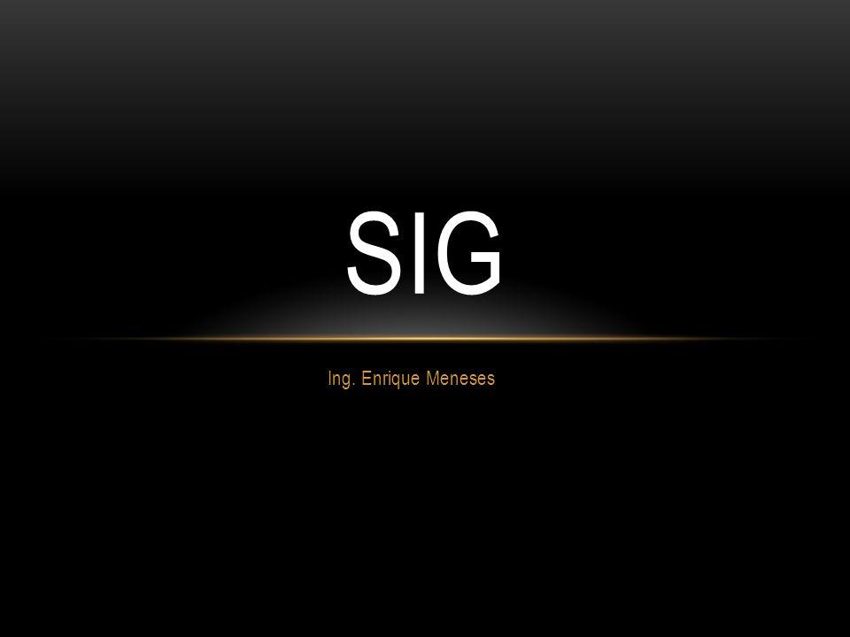 Ing. Enrique Meneses SIG