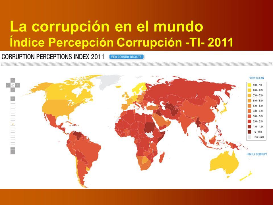 La corrupción en el mundo Índice Percepción Corrupción -TI- 2011