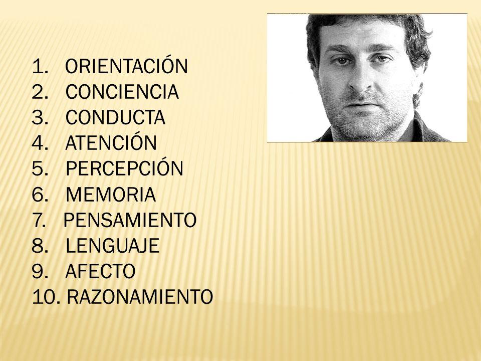 1.ORIENTACIÓN 2. CONCIENCIA 3. CONDUCTA 4. ATENCIÓN 5.