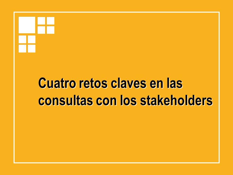 Cuatro retos claves en las consultas con los stakeholders