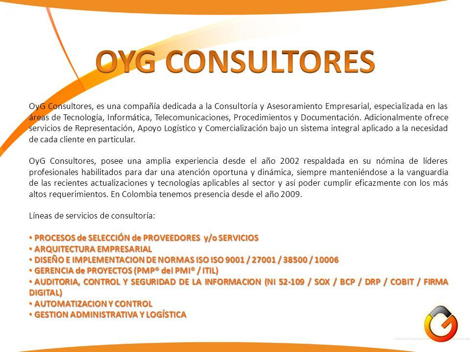 OyG Consultores, es una compañía dedicada a la Consultoría y Asesoramiento Empresarial, especializada en las áreas de Tecnología, Informática, Telecom
