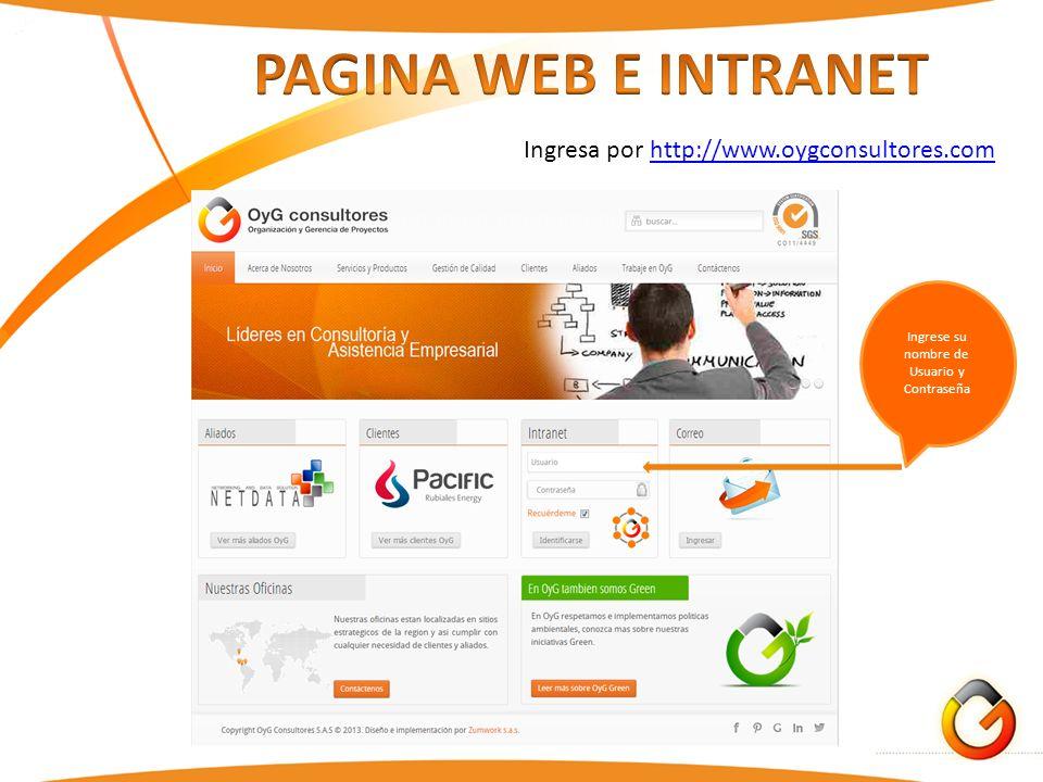Ingrese su nombre de Usuario y Contraseña Ingresa por http://www.oygconsultores.comhttp://www.oygconsultores.com