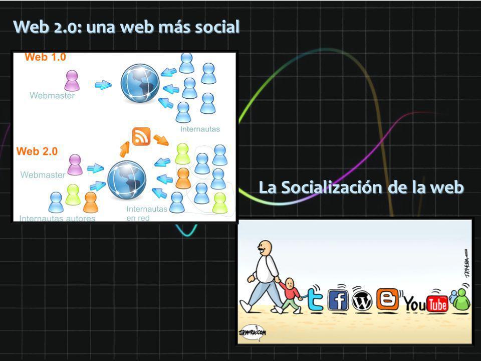 Web 2.0: una web más social La Socialización de la web