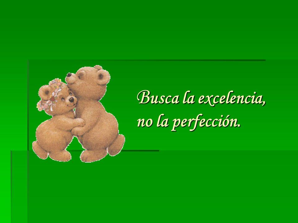 B usca la excelencia, no la perfección.