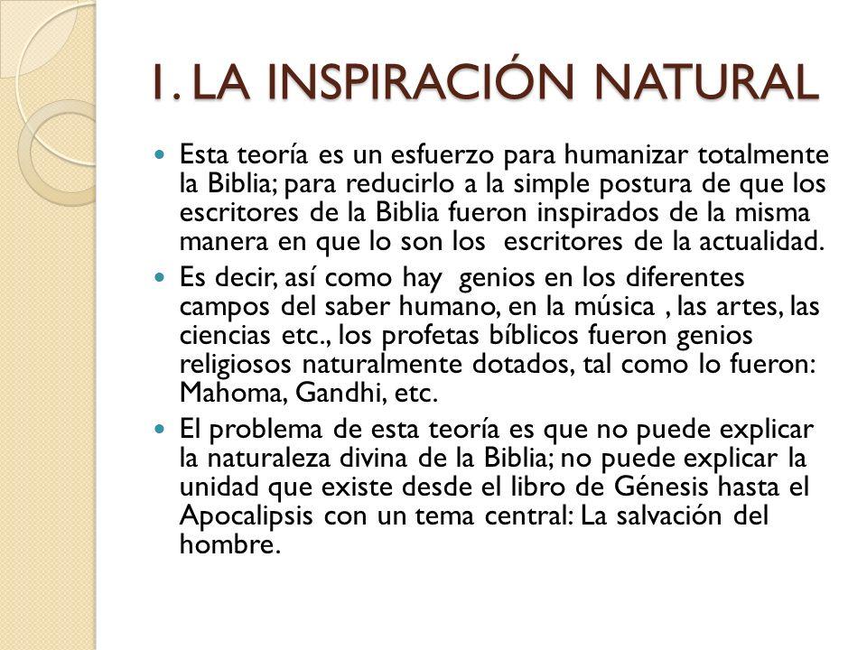 TEORIAS DE LA INSPIRACIÓN
