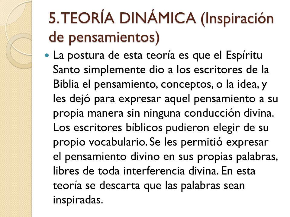 4. EL PUNTO DE VISTA DE LA INSPIRACIÓN COMO ILUMINACION En este punto de vista la inspiración es la iluminación de los autores más allá de sus habilid