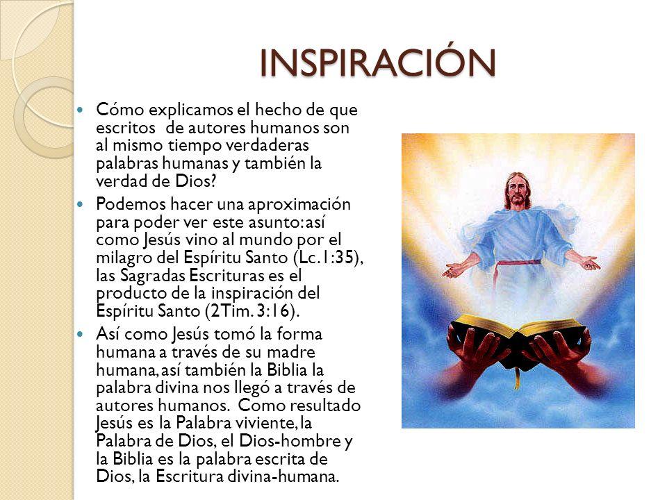 La revelación y la inspiración aunque no son sinónimos, están íntimamente relacionadas. Revelación es la inicial comunicación del mensaje divino dado