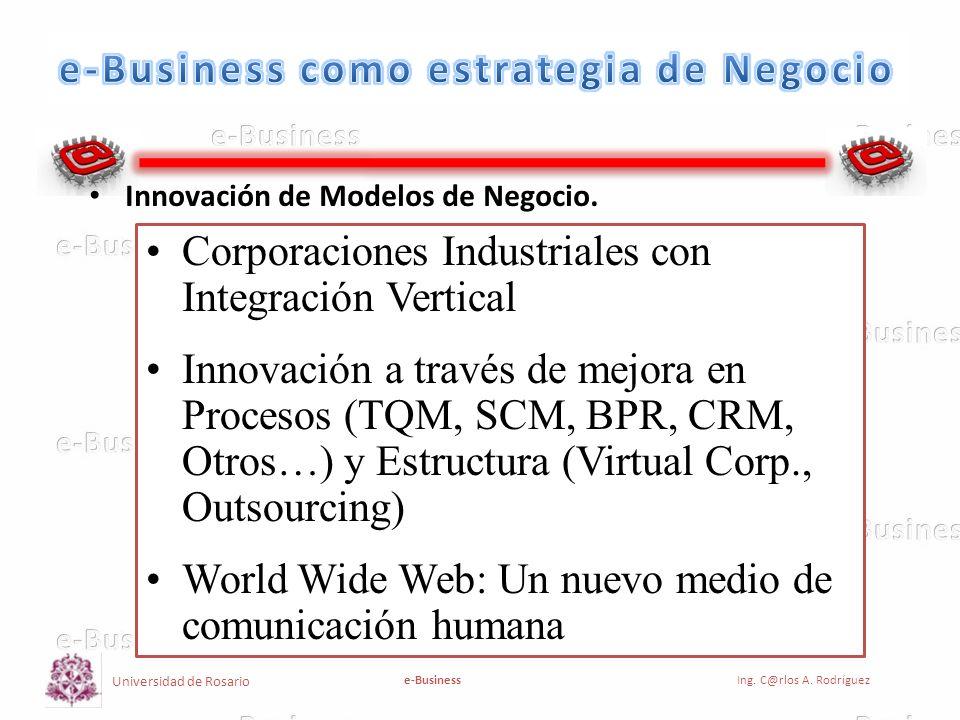 Universidad de Rosario e-BusinessIng.C@rlos A. Rodríguez Modelo de Negocio Tradicional.