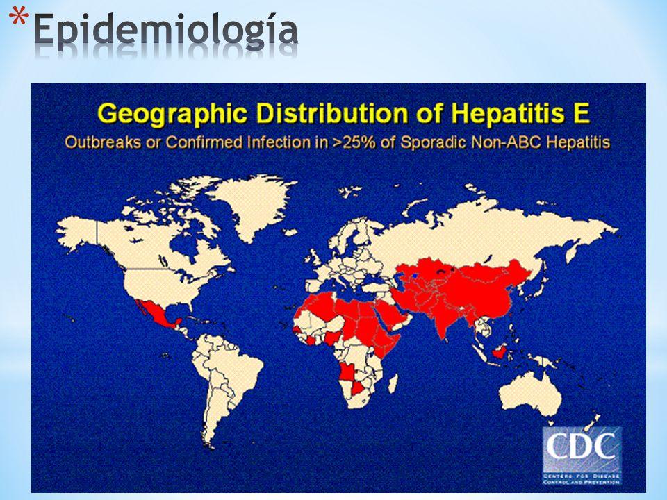 Epidemias en México Morelos Hepatitis colestásicaAlta mortalidad en mujeres embarazadas Enfermedad hepática fulminante 20 – 30% Abortos espontáneos o partos prematuros
