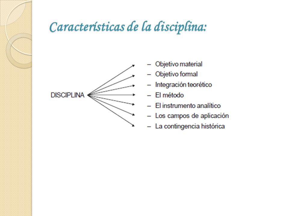 Características de la disciplina: