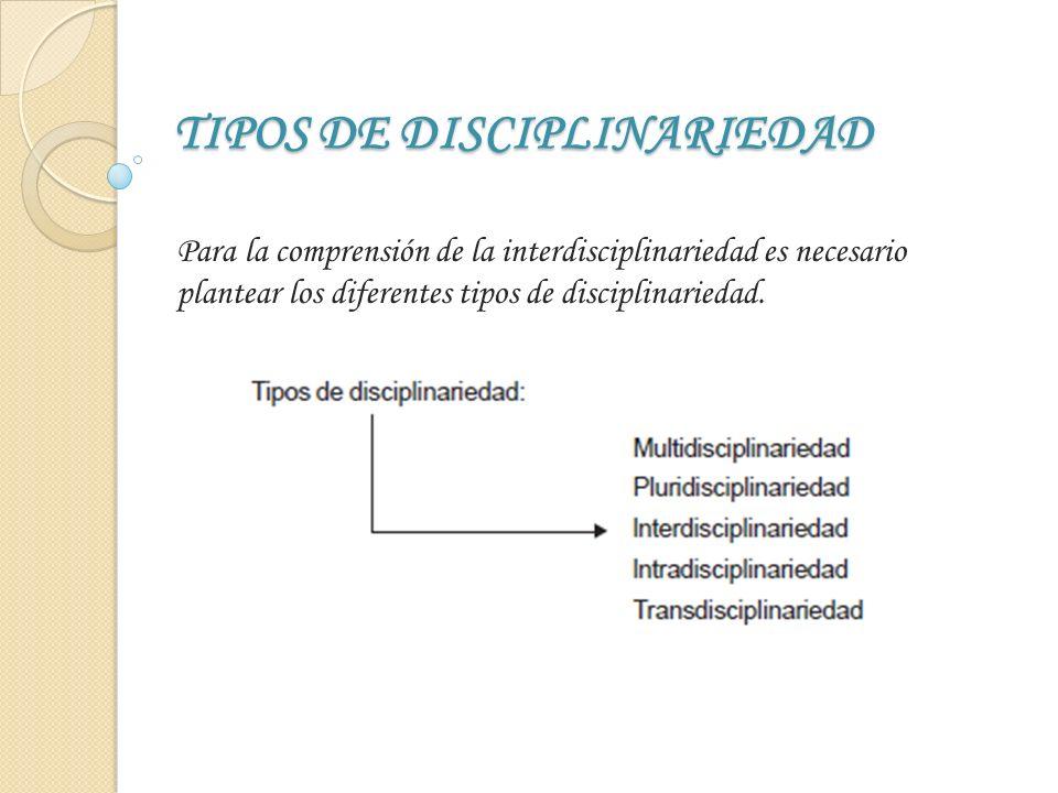 SISTEMA DE INTERDISCIPLINARIEDAD La interdisciplinariedad como proceso dinámico presenta los siguientes pasos a partir del sistema que explicaremos a continuación y que plantea los siguientes elementos: