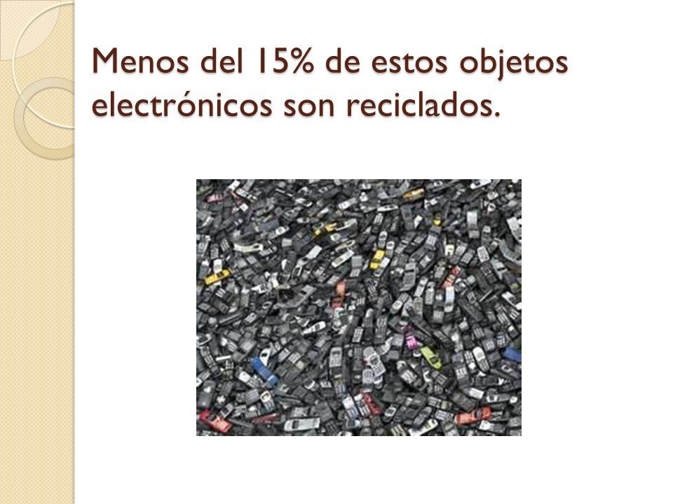 Menos del 15% de estos objetos electrónicos son reciclados.