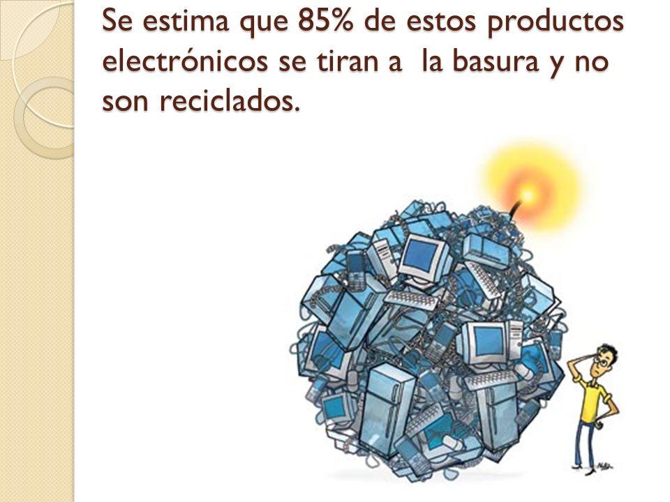 En el 2007 los Estados Unidos generó 3 millones de toneladas de e-waste.