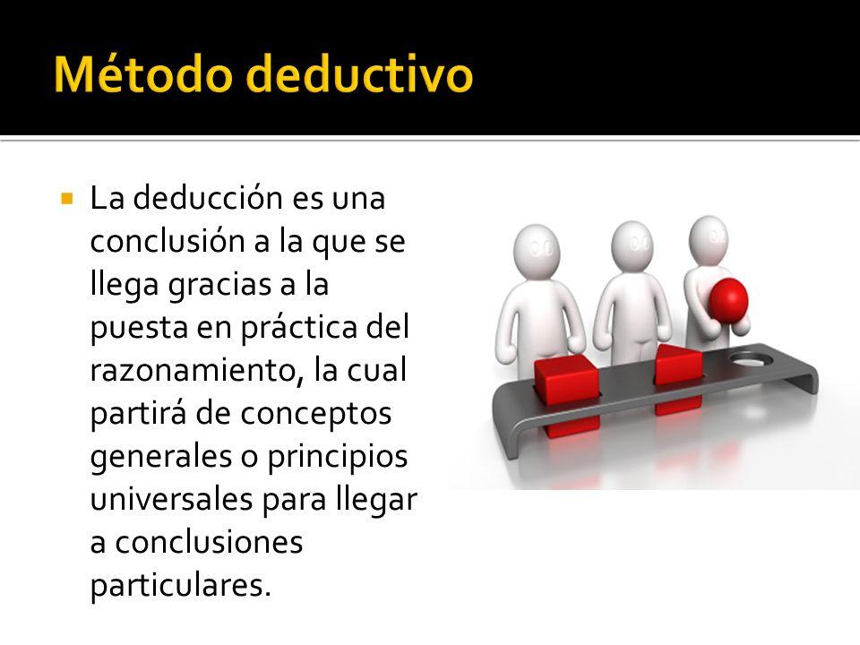 La deducción es una conclusión a la que se llega gracias a la puesta en práctica del razonamiento, la cual partirá de conceptos generales o principios