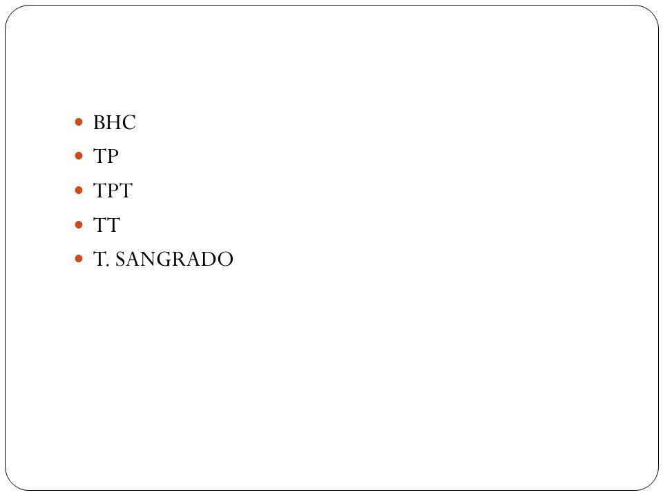 BHC TP TPT TT T. SANGRADO