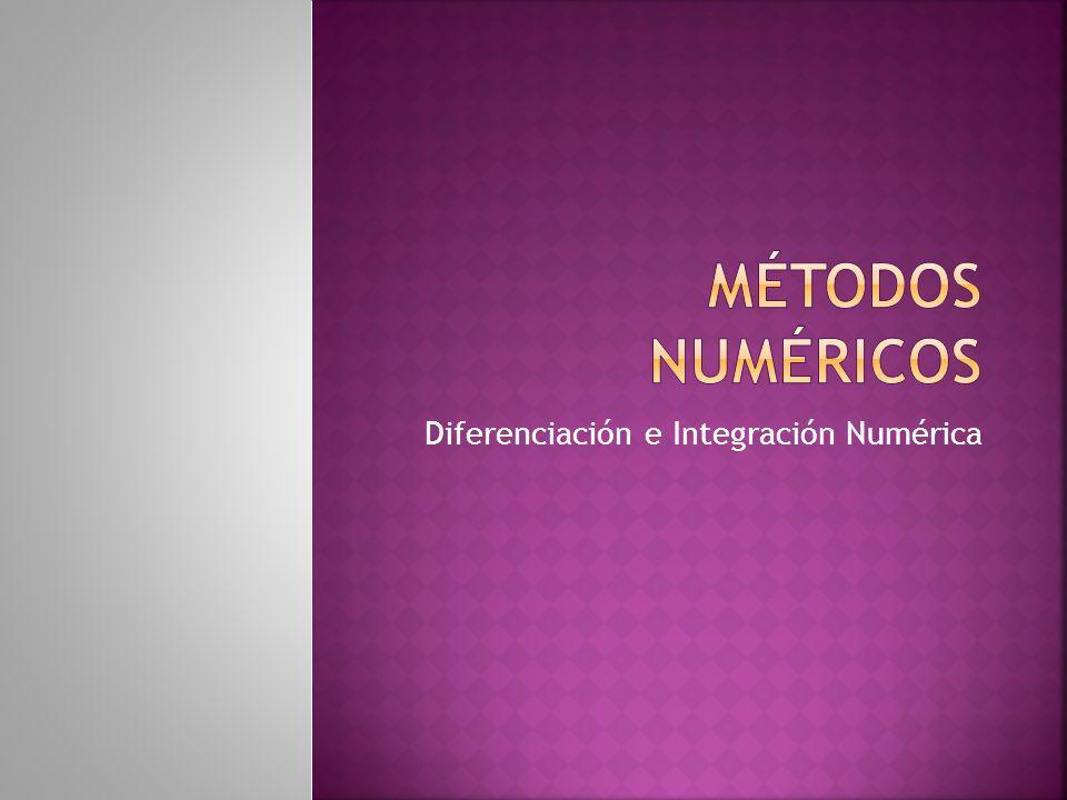 Diferenciación e Integración Numérica