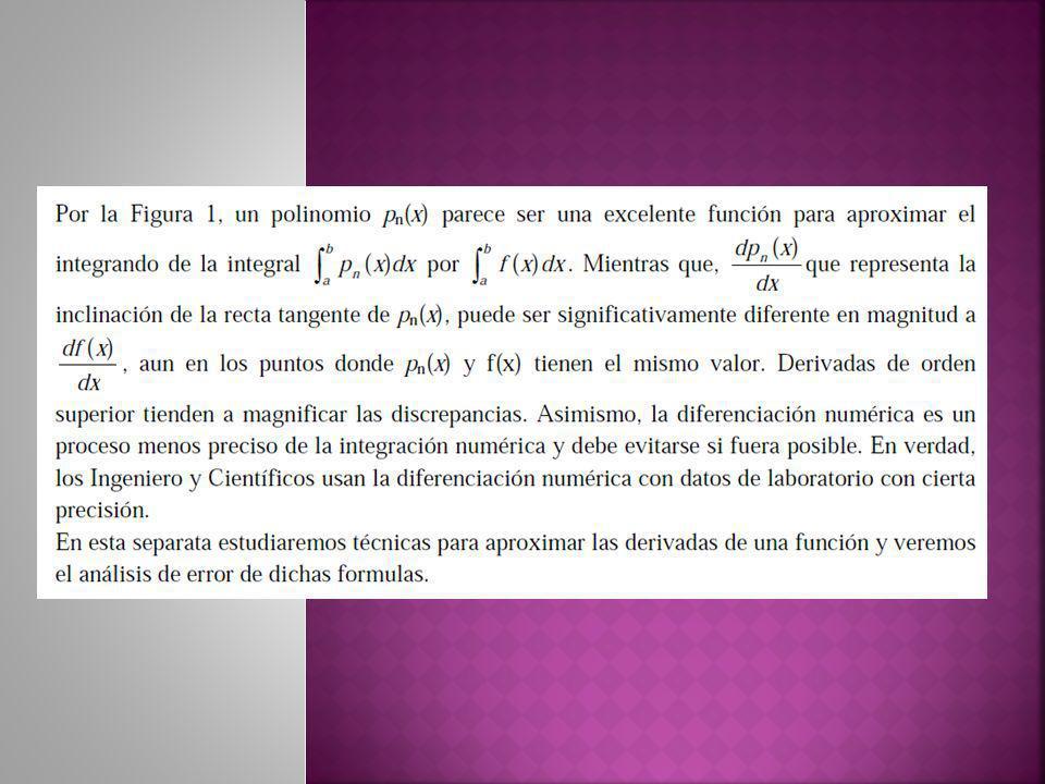 Las fórmulas de integración vistas antes requieren que se conozcan los valores de la función cuya integral se va a aproximar en puntos uniformemente espaciados.