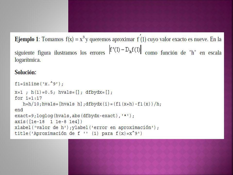 Para f(x)=1: Dado que tenemos 2 incógnitas, requerimos 2 condiciones: supondremos que es exacta para cualquier polinomio de grado 1 o menor, por lo tanto, será exacta para el conjunto de funciones {1, x} Para f(x)=x: Por lo tanto: