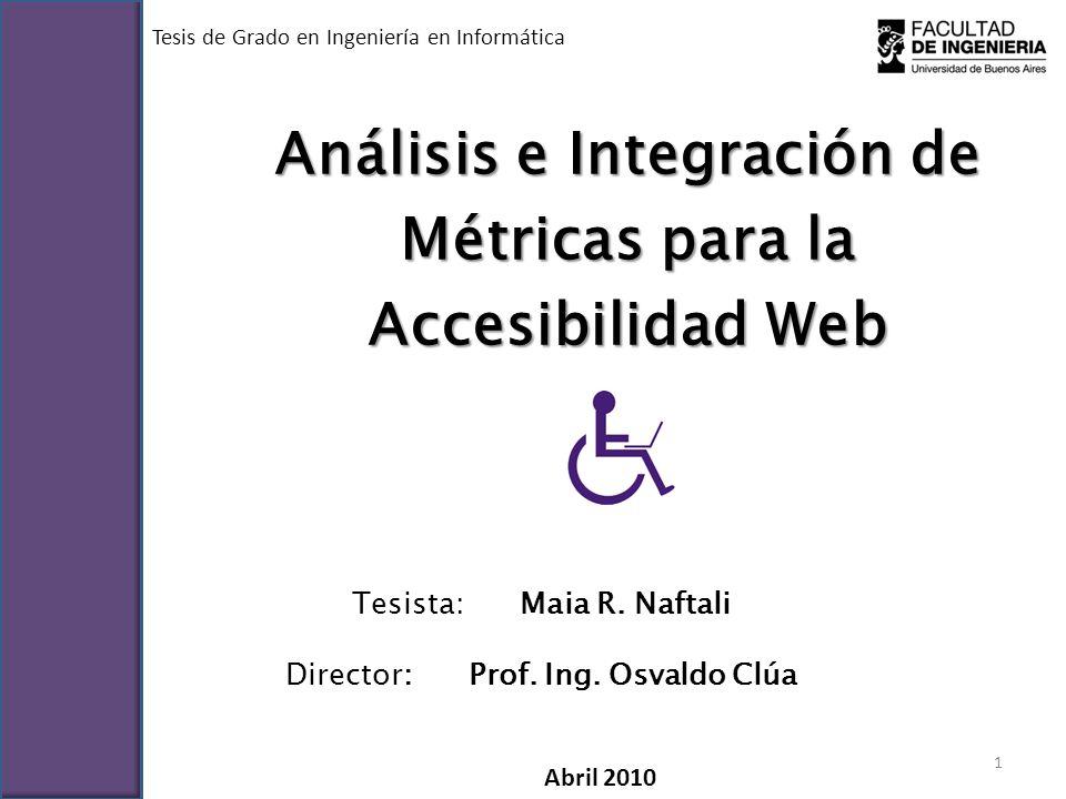 Contenido I.La Accesibilidad Web – Introducción – El modelo – Cómo acceden a la web las personas con discapacidad – Barreras – Las pautas para la accesibilidad Web – Normativas II.Evaluación de la Accesibilidad Web – Procesos de evaluación – Métricas III.OceanAcc, la herramienta – Objetivos – La aplicación – La experiencia – Conclusiones obtenidas IV.Conclusiones generales 2