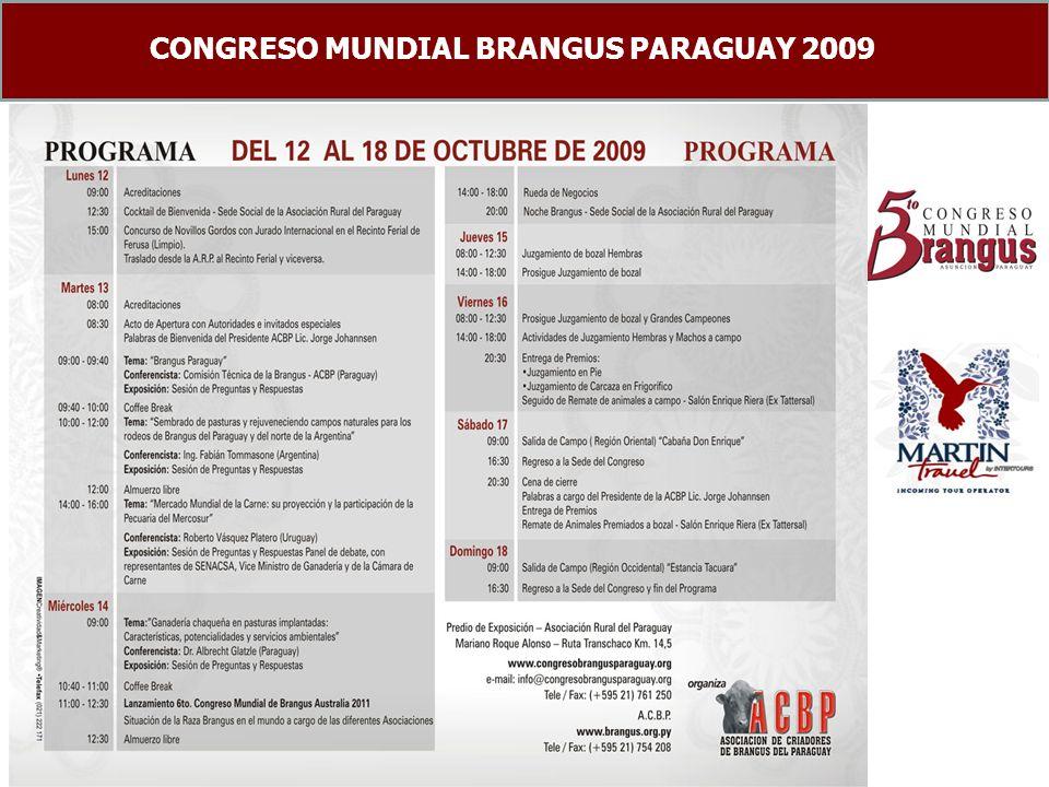 CONGRESO MUNDIAL BRANGUS PARAGUAY 2009