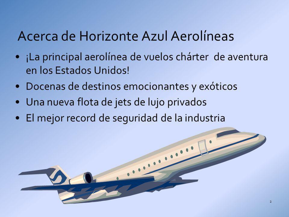 ¡La principal aerolínea de vuelos chárter de aventura en los Estados Unidos! Docenas de destinos emocionantes y exóticos Una nueva flota de jets de lu