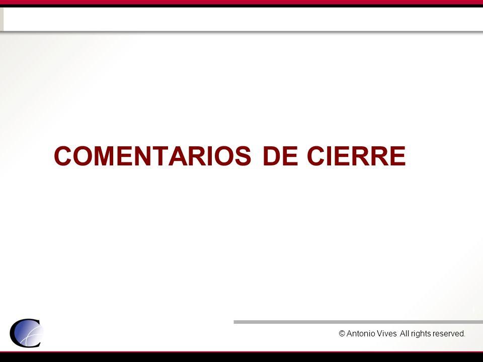 COMENTARIOS DE CIERRE