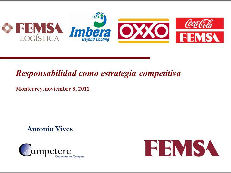 Antonio Vives Responsabilidad como estrategia competitiva Monterrey, noviembre 8, 2011