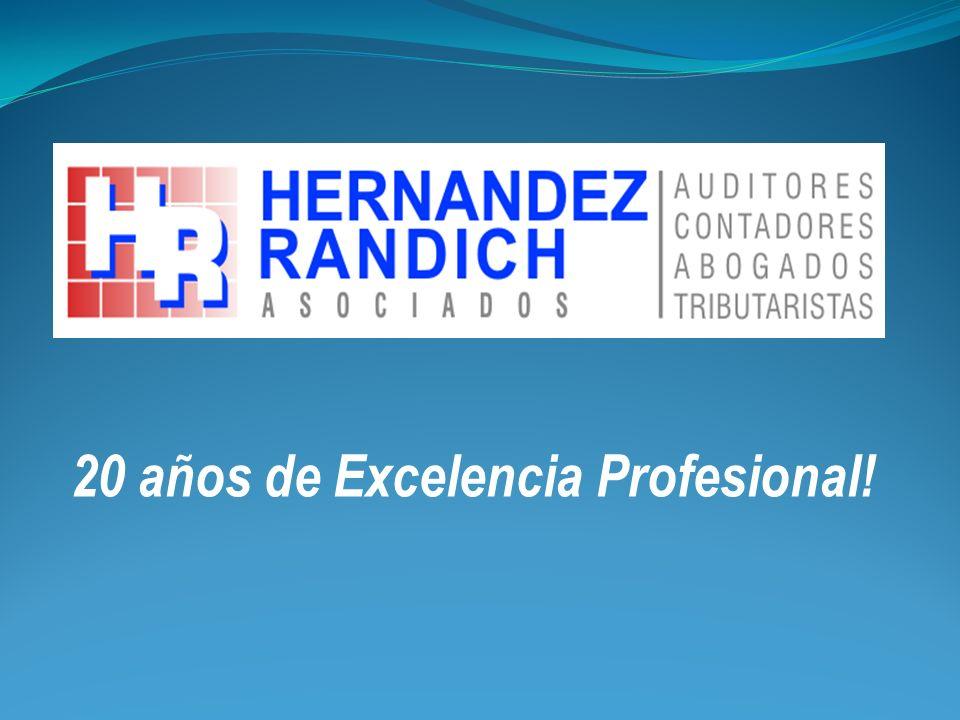 20 años de Excelencia Profesional!