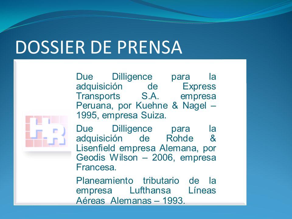 DOSSIER DE PRENSA Due Dilligence para la adquisición de Express Transports S.A.