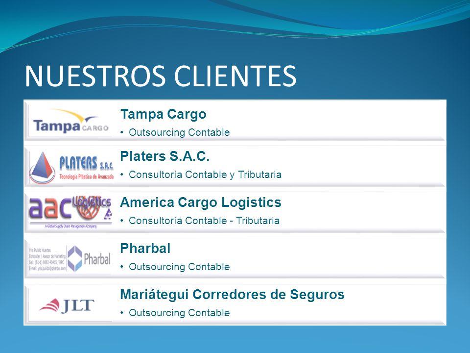 NUESTROS CLIENTES Tampa Cargo Outsourcing Contable Platers S.A.C. Consultoría Contable y Tributaria America Cargo Logistics Consultoría Contable - Tri