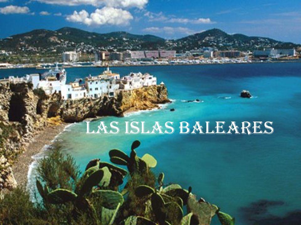La comunidad al este de españa en el mar Mediterraneo 4 942 km² el clima : mediterraneo 841 669 habitantes capital regional : Palma de mallorca
