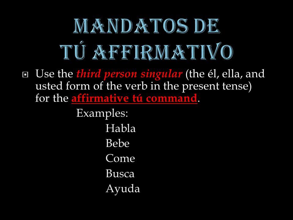 Escribe los mandatos de nosotros para los siguientes verbos: AfirmativoNegativo 1.