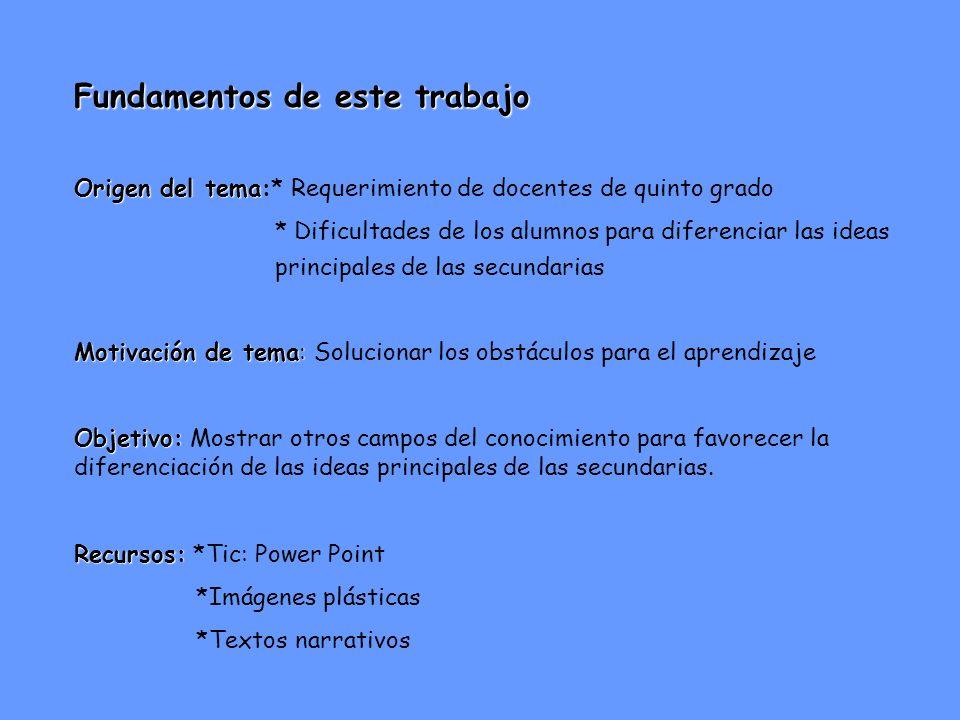 IDEAS PRINCIPALES e Ideas secundarias He aquí la cuestión.... Prof. María Rosa Tracchia