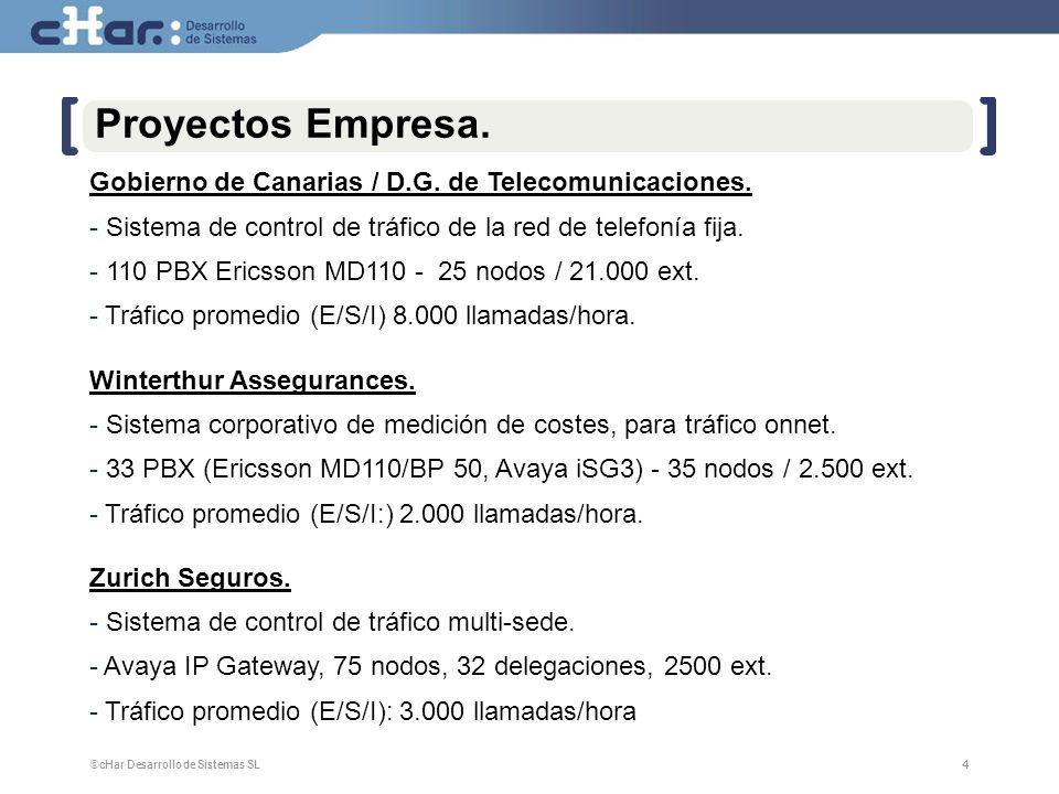 ©cHar Desarrollo de Sistemas SL / 20084 4 Proyectos Empresa. Gobierno de Canarias / D.G. de Telecomunicaciones. - Sistema de control de tráfico de la