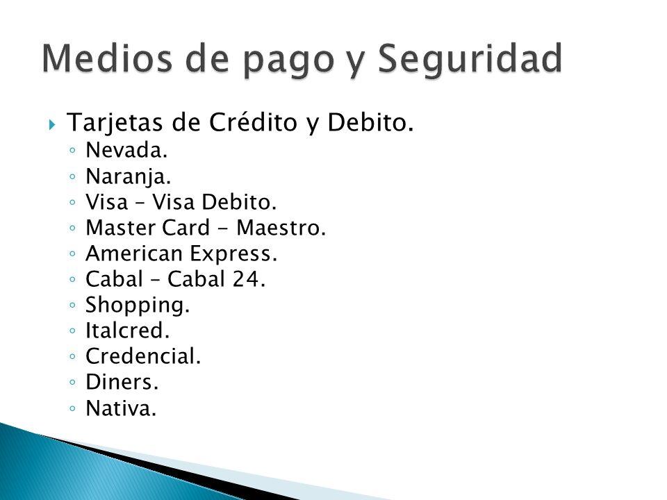 Tarjetas de Crédito y Debito.Medidas de seguridad.