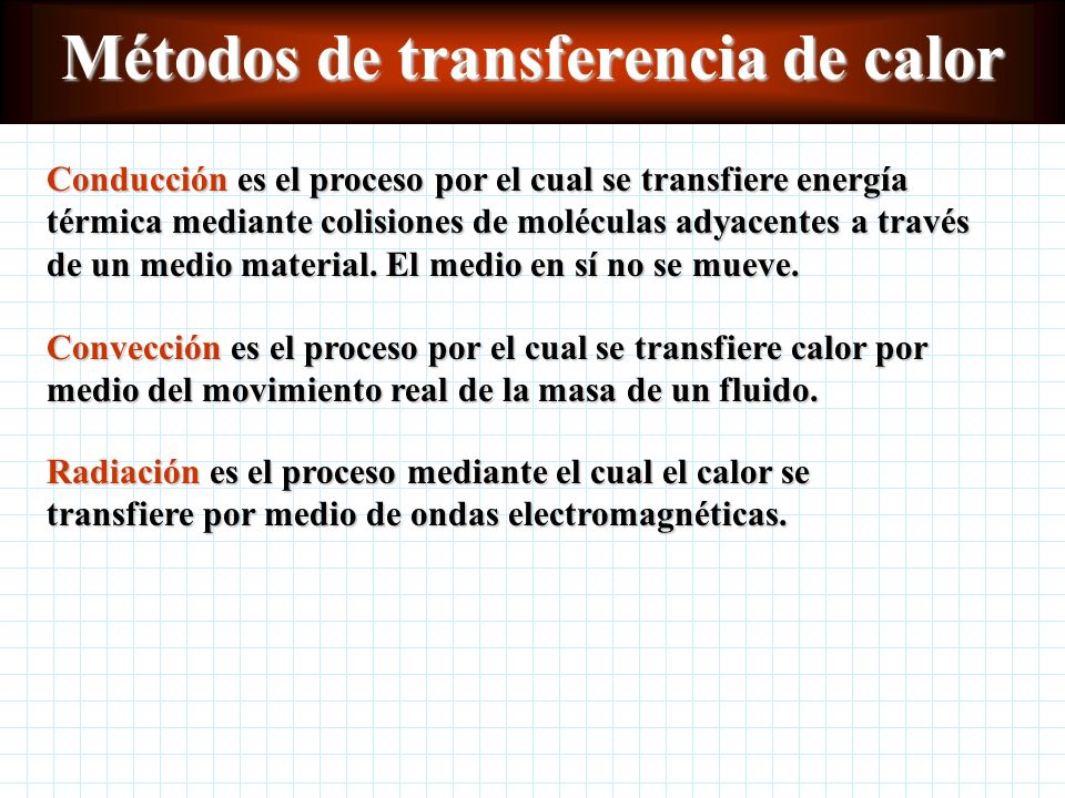 Transferencia de calor Capítulo 18 Física Sexta edición Paul E. Tippens Métodos de transferencia de calor Métodos de transferencia de calor Conducción