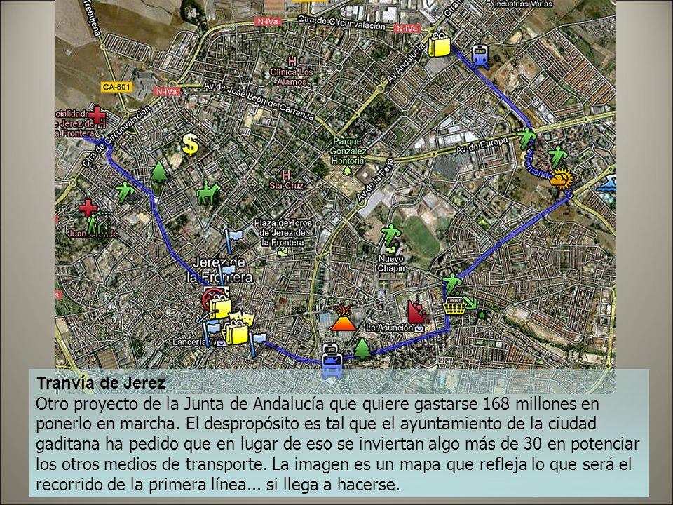 Tranvía de Jaén Uno de los mejores ejemplos de lo poco sostenible que les está resultando el tranvía a los contribuyentes: en Jaén, una de las ciudade