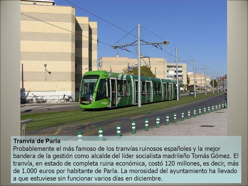 Tranvía de Jerez Otro proyecto de la Junta de Andalucía que quiere gastarse 168 millones en ponerlo en marcha. El despropósito es tal que el ayuntamie