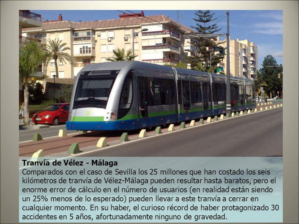 Tranvía de Sevilla Poco más de dos kilómetros de longitud a través del centro de la ciudad, cinco estaciones y 60 millones de gasto: el Ayuntamiento h