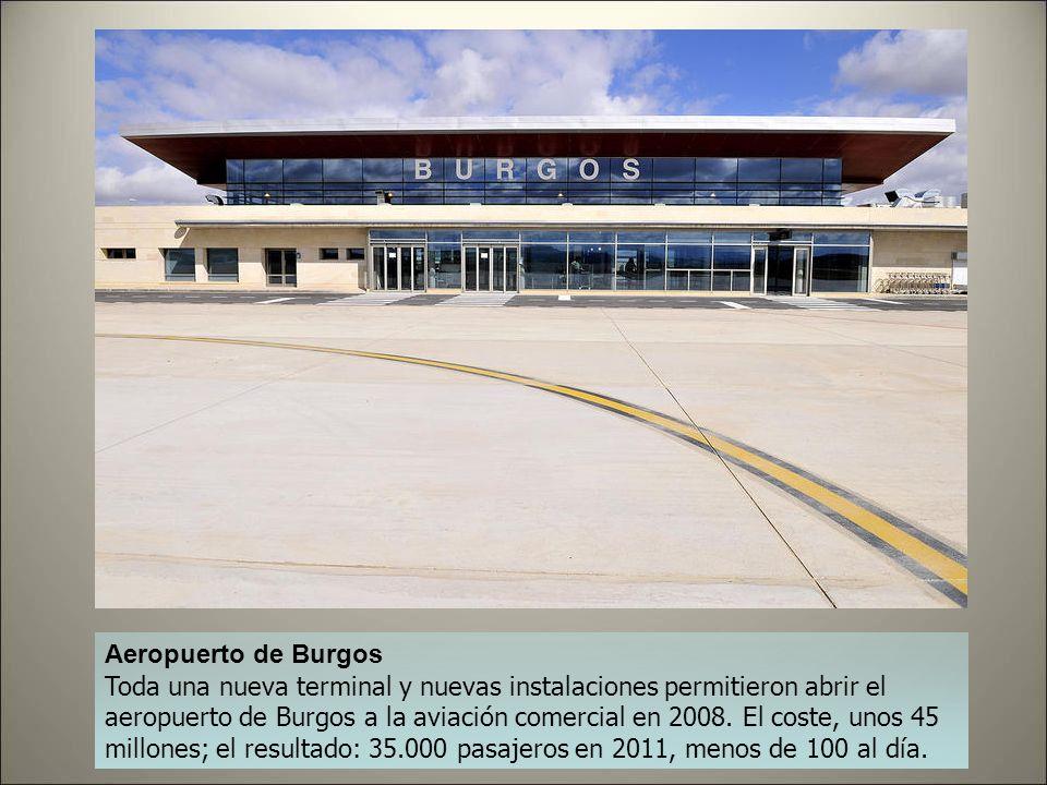 Aeropuerto de Badajoz Remodelado en 2010 por el módico precio de 20 millones de euros, en 2011 tuvo poco más de 50.000 pasajeros, pero a principios de