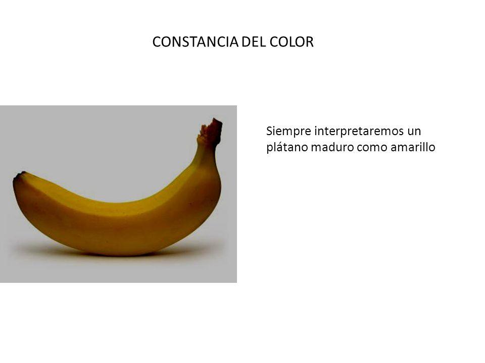 Siempre interpretaremos un plátano maduro como amarillo