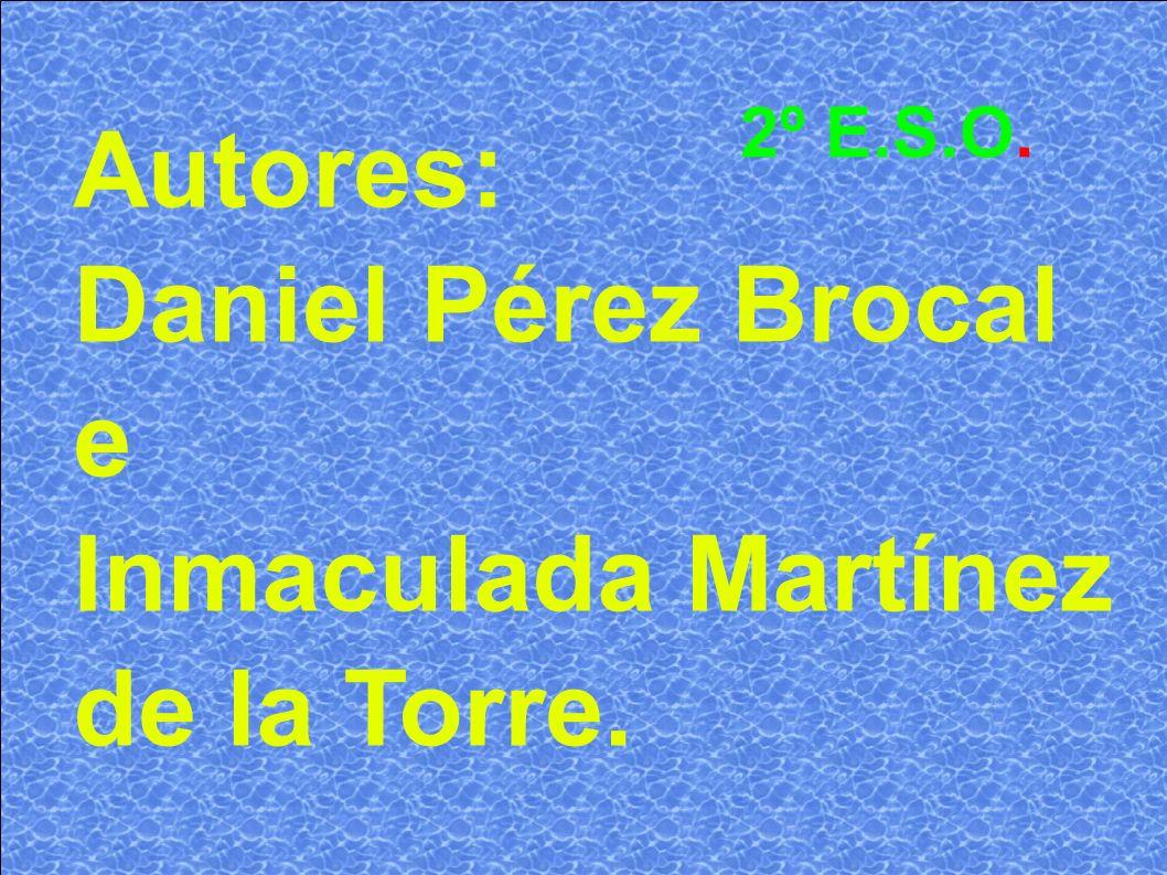 Autores: Daniel Pérez Brocal e Inmaculada Martínez de la Torre. 2º E.S.O.