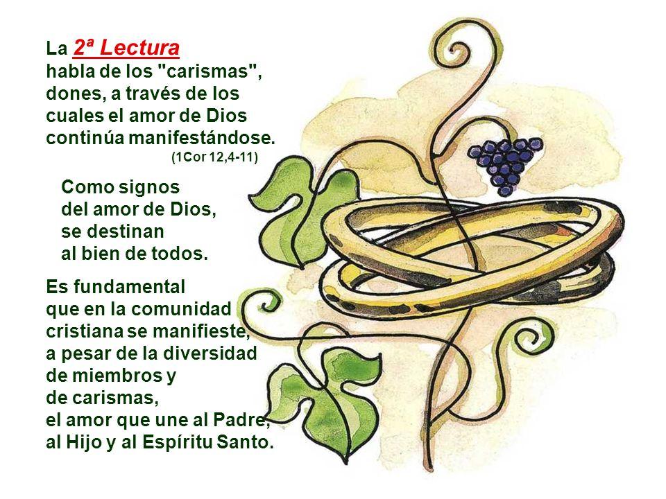 En la 1ª Lectura, la imagen del MATRIMONIO revela la profunda unión que existe entre Dios y la Humanidad.
