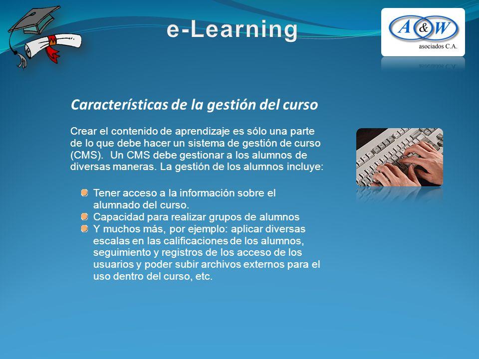 Crear el contenido de aprendizaje es sólo una parte de lo que debe hacer un sistema de gestión de curso (CMS).