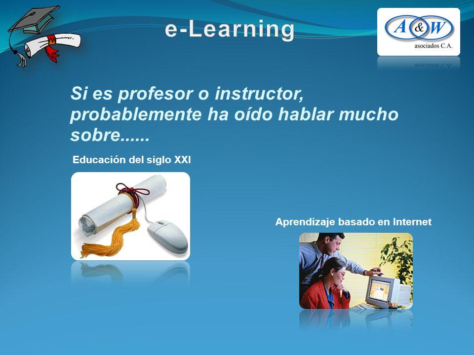 Si es profesor o instructor, probablemente ha oído hablar mucho sobre...... Educación del siglo XXI Aprendizaje basado en Internet