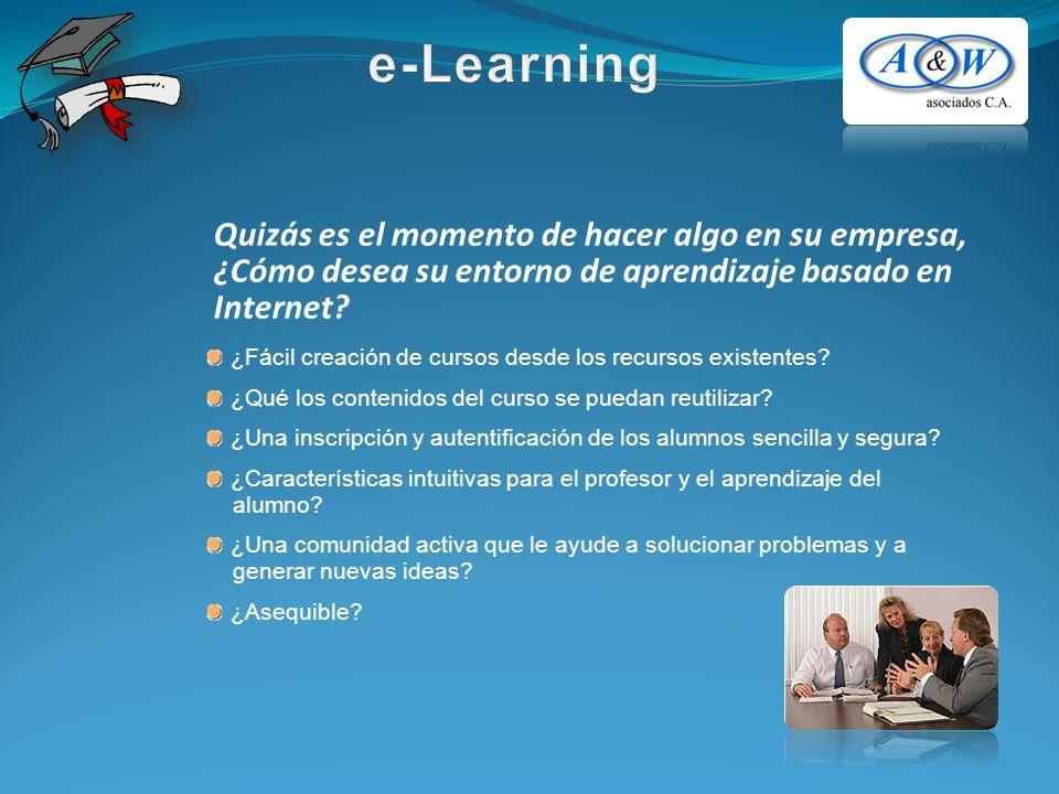 Quizás es el momento de hacer algo en su empresa, ¿Cómo desea su entorno de aprendizaje basado en Internet.